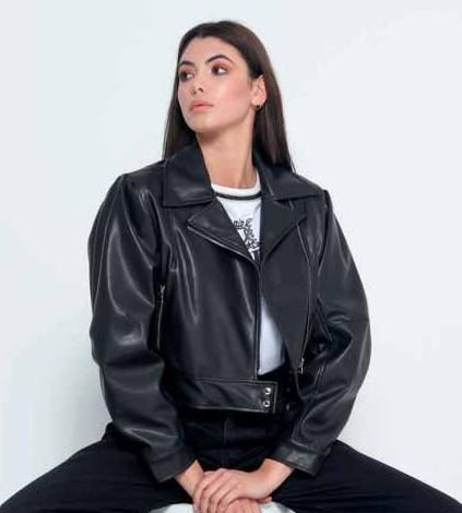Queguappa Faux leather jacket