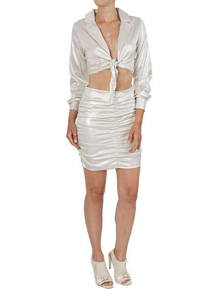 KENDALL+KYLIE FRONT TIE CROPPED TOP